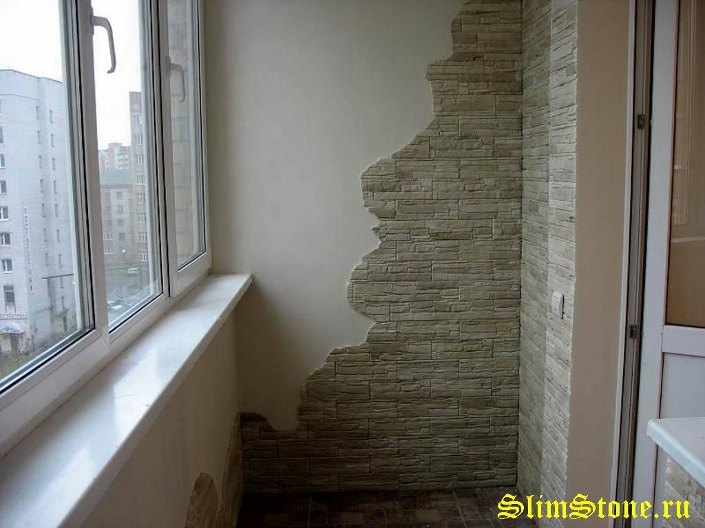 Балкон отделать камнем..