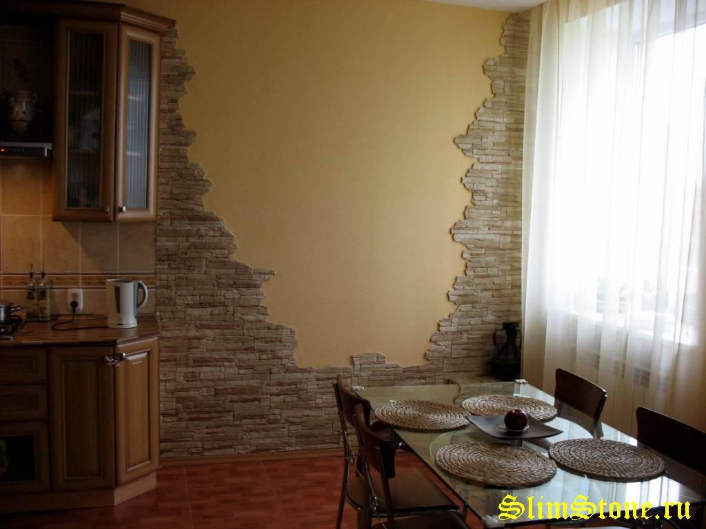Искусственный камень в квартире фото