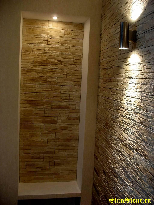Фото искусственного камнЯ в интерьере и на фасаде..