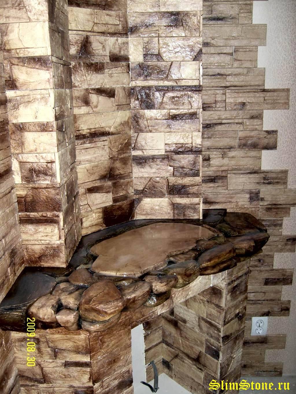 Как в квартире сделать стены под камень